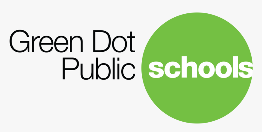 Green Dot Logo Colored Large-3 - Green Dot Public Schools, HD Png Download, Free Download
