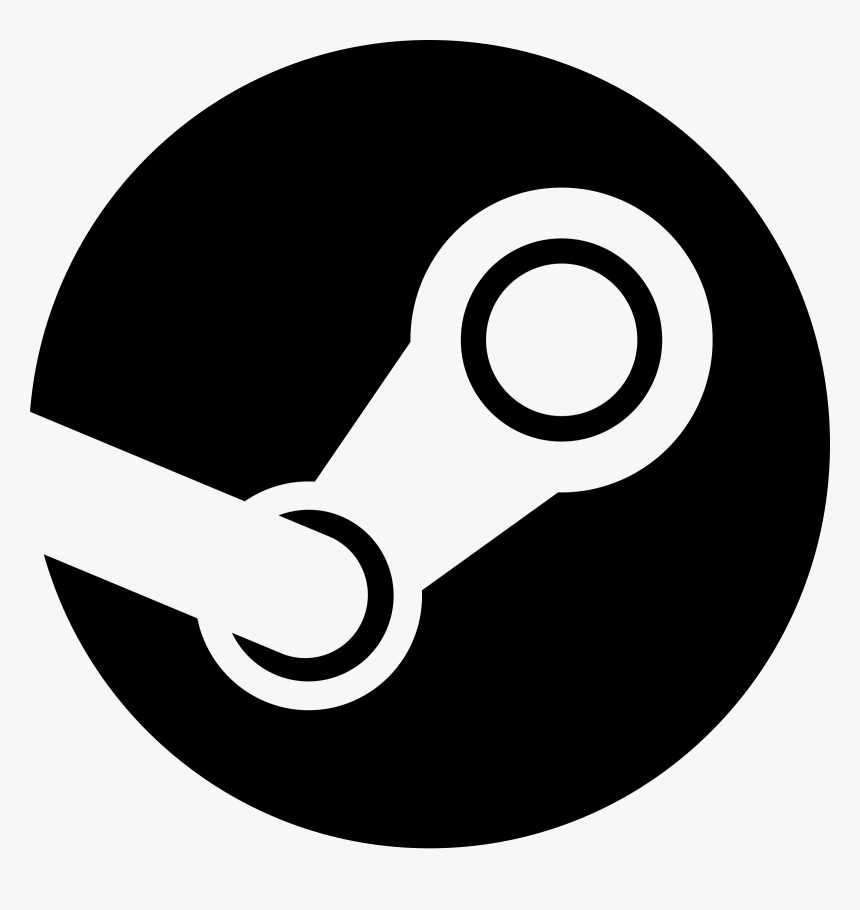 Steam Logo Black And White - Steam Icon Png, Transparent Png, Free Download