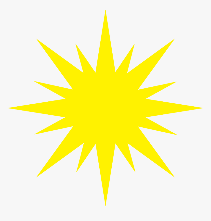 Yellow Christmas Star - Denver Gold Helmet, HD Png Download, Free Download