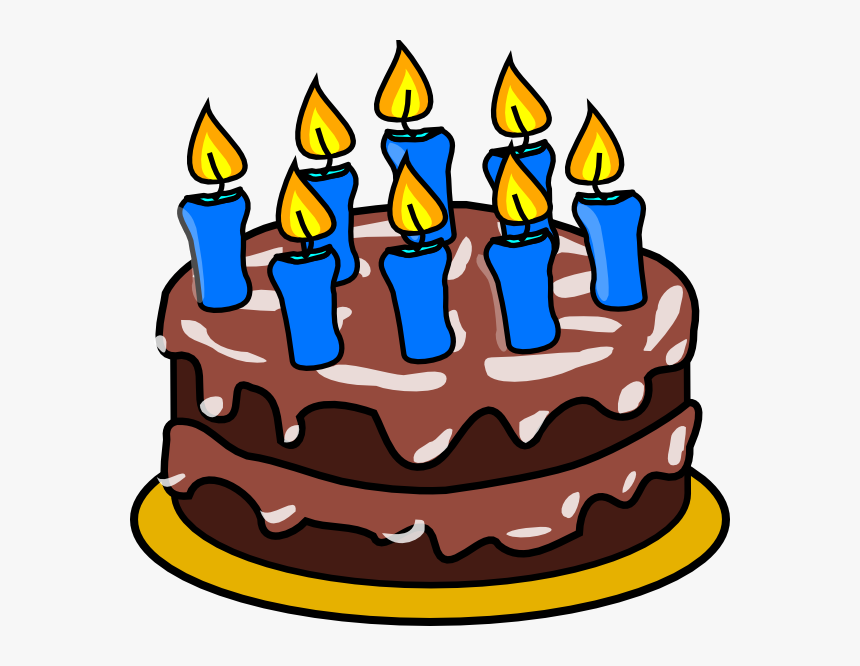Happy Birthday Cake With Candles Clipart Png Black - Birthday Cake Clipart 5, Transparent Png, Free Download