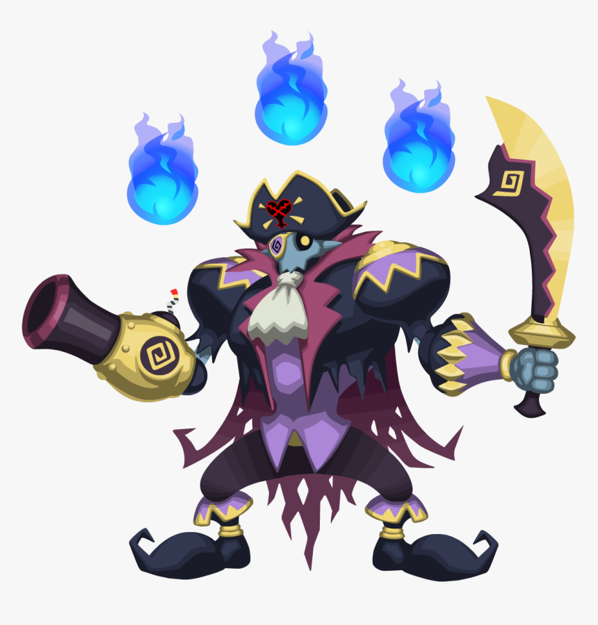 Closehanded Captain Khx - Kingdom Hearts X Heartless Pirate, HD Png Download, Free Download