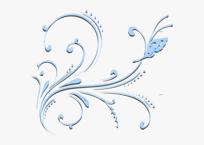Butterfly Scroll Svg Clip Arts - Butterfly Border Designs Black And White, HD Png Download, Free Download