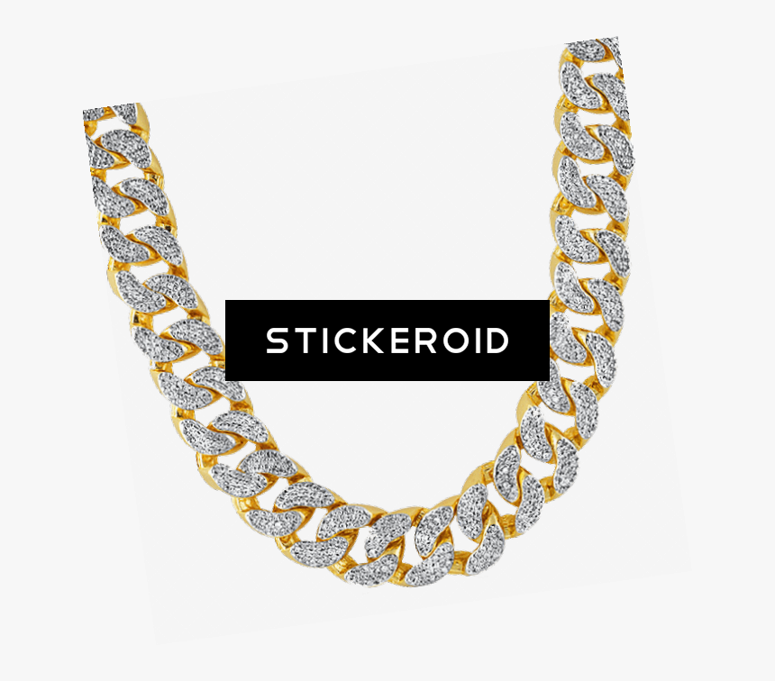 Gold Chain Dollar Sign Png - Gold Diamond Chain Png, Transparent Png, Free Download