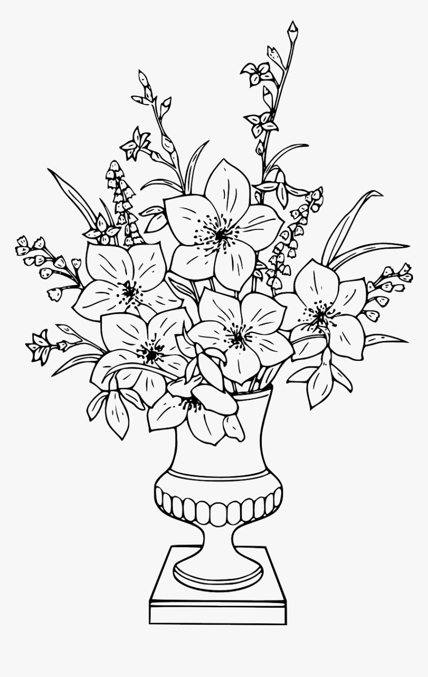 coloring pages : Coloring Pages Of Flowers In Baskets Beautiful 21 ... | 1360x860