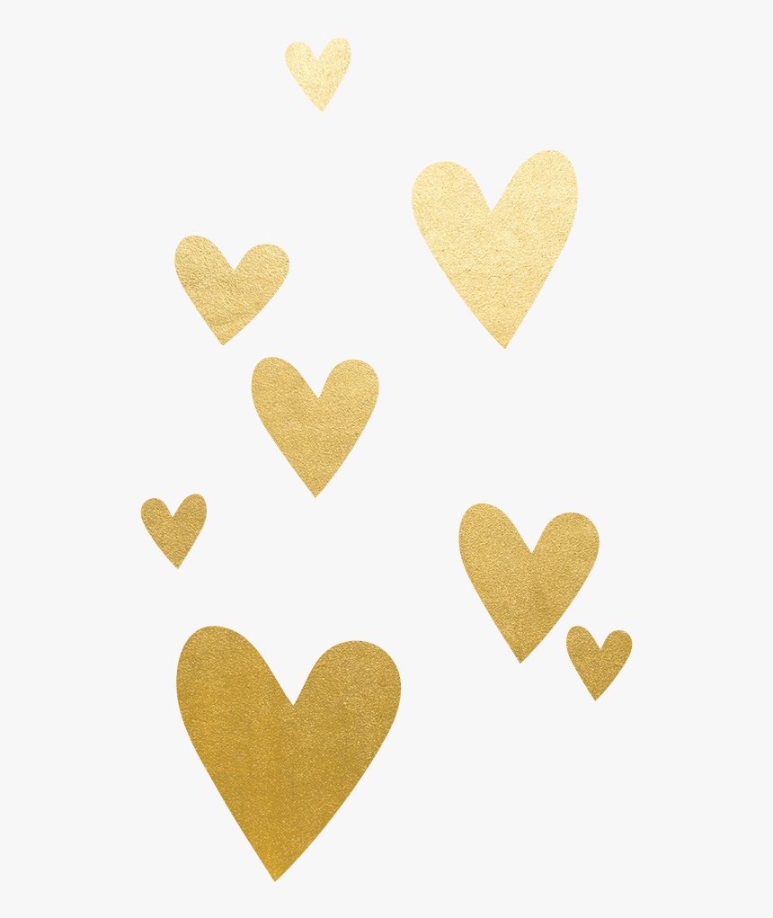 Gold Heart Red Clip Art - Gold Heart No Background, HD Png Download, Free Download