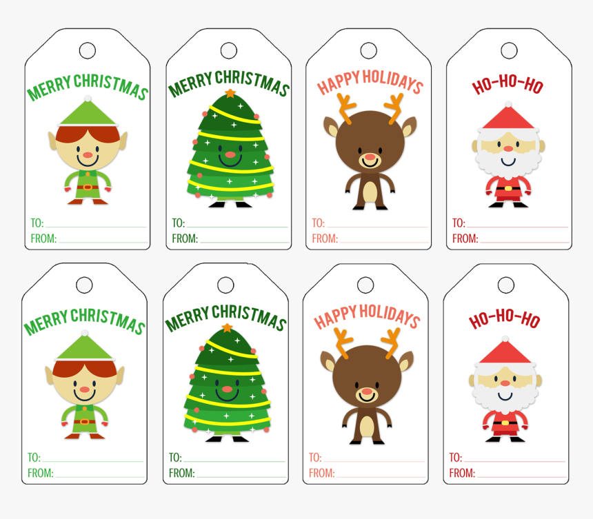 Christmas Gift Tags Png - Merry Christmas Tags Pdf, Transparent Png, Free Download