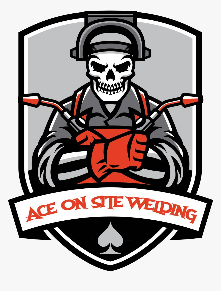Ace One Site Welding Logo Skull Welding Clipart Hd Png Download Kindpng