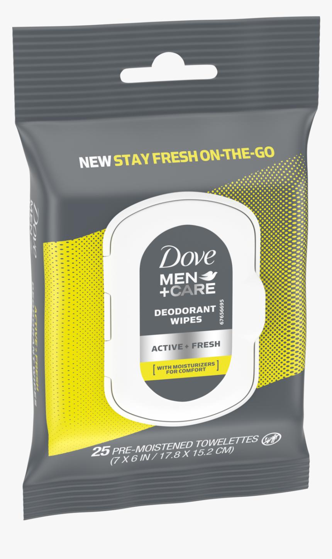 Dove Men Care Deodorant Wipes Active Fresh 25ct Left - Dove Deodorant Wipes 10, HD Png Download, Free Download