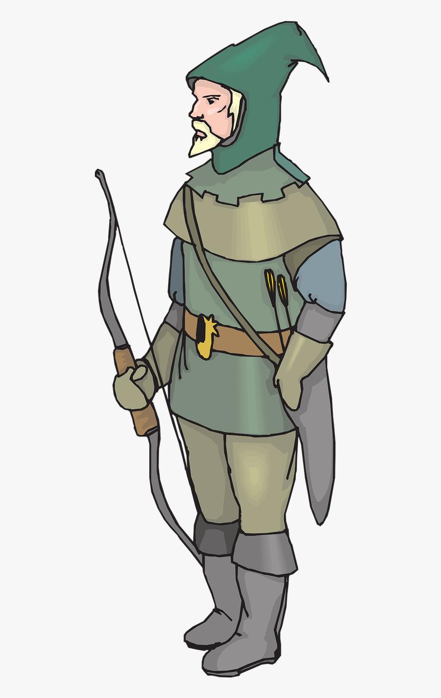 Fantasy Archer Man Free Photo   Robin Hood, HD Png Download   kindpng