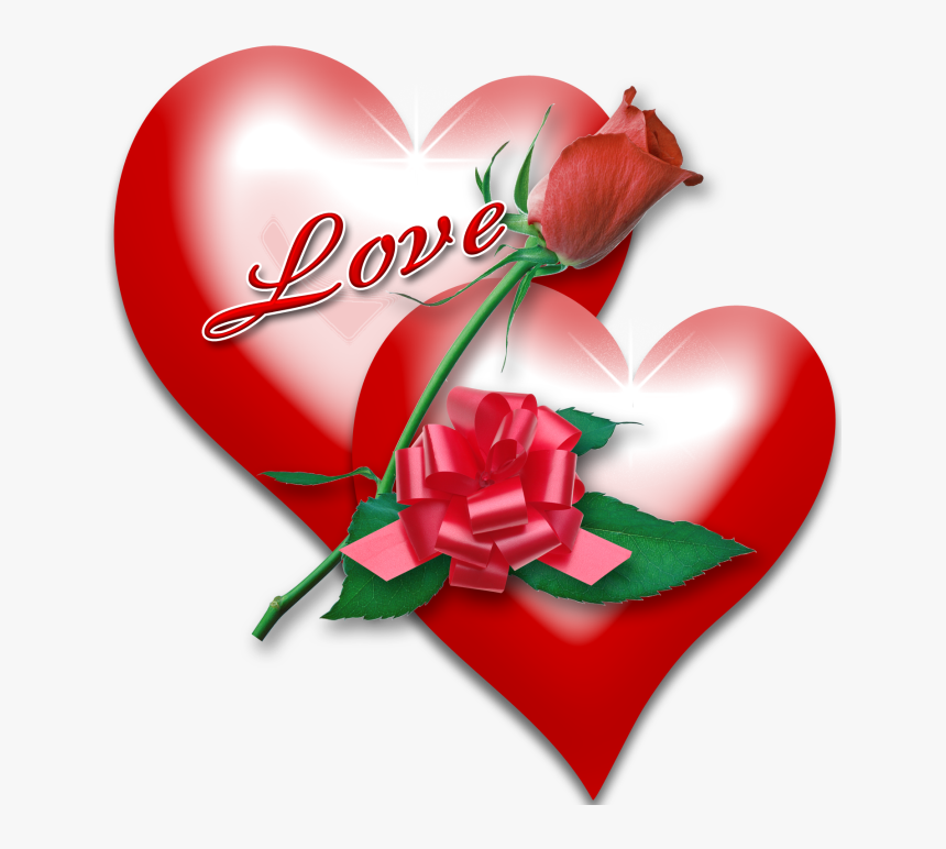 Amor Y Sentimientos Del - Valentines Heart With Roses, HD Png Download, Free Download