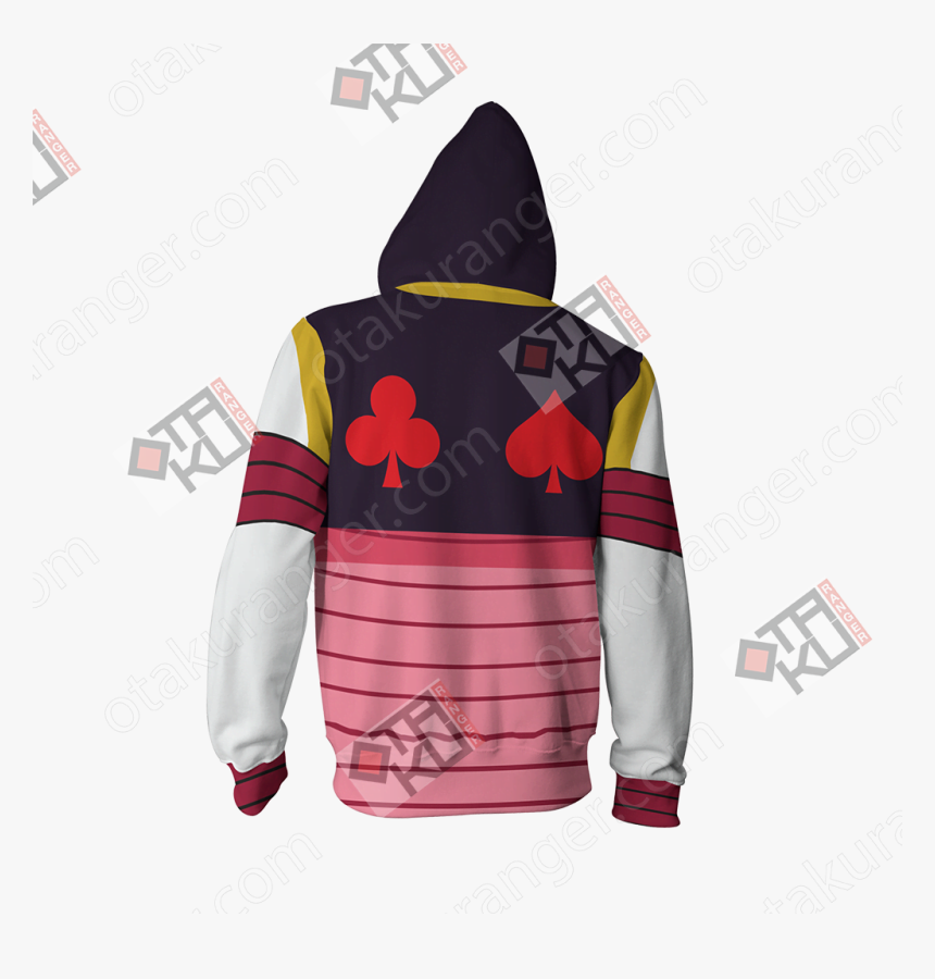 Hunter X Hunter Hisoka Cosplay Zip Up Hoodie Jacket - Hoodie, HD Png Download, Free Download