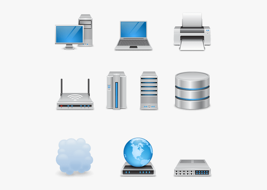 Networking Icon Pack By Webhostinggeeks - Computer Networking Free Icons, HD Png Download, Free Download