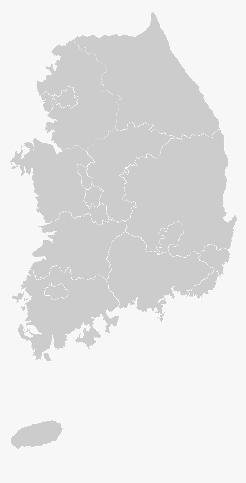 Picture of: South Korea Map Outline Png Blank South Korea Map Transparent Png Kindpng