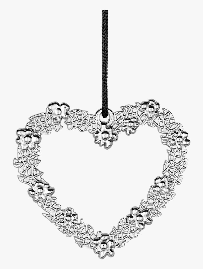 Flower Heart H7 Silver Plated Karen Blixen - Rosendahl Design Ole Kortzau Heart As Welcome Home, HD Png Download, Free Download
