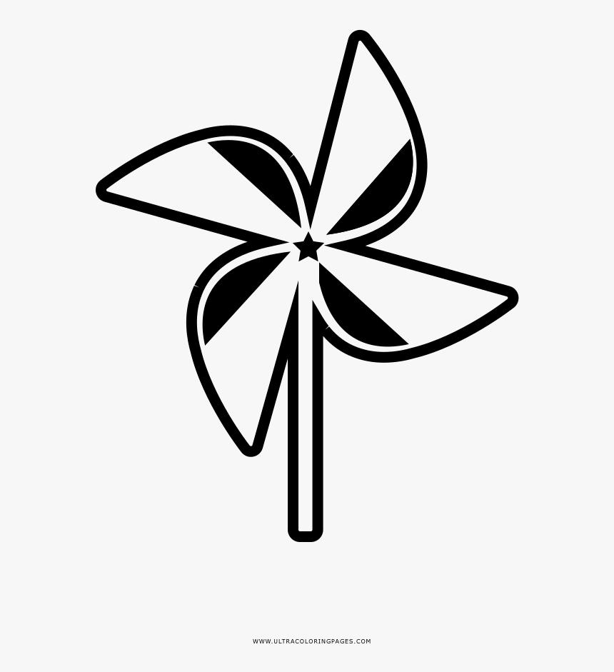 Pinwheel Coloring Page - Girandola Disegno Da Colorare, HD Png Download, Free Download