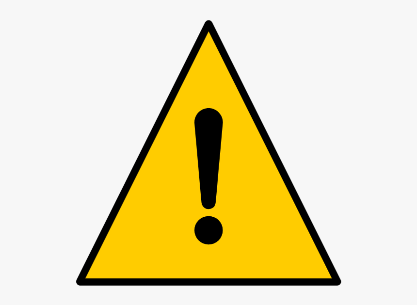 Warning Sign, Exclamation Mark - Warning Sign Meaning, HD Png Download, Free Download