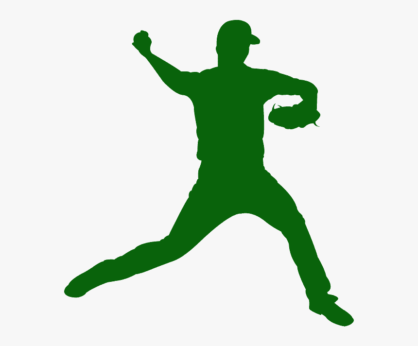 Silhouette Baseball Pitcher, HD Png Download, Free Download