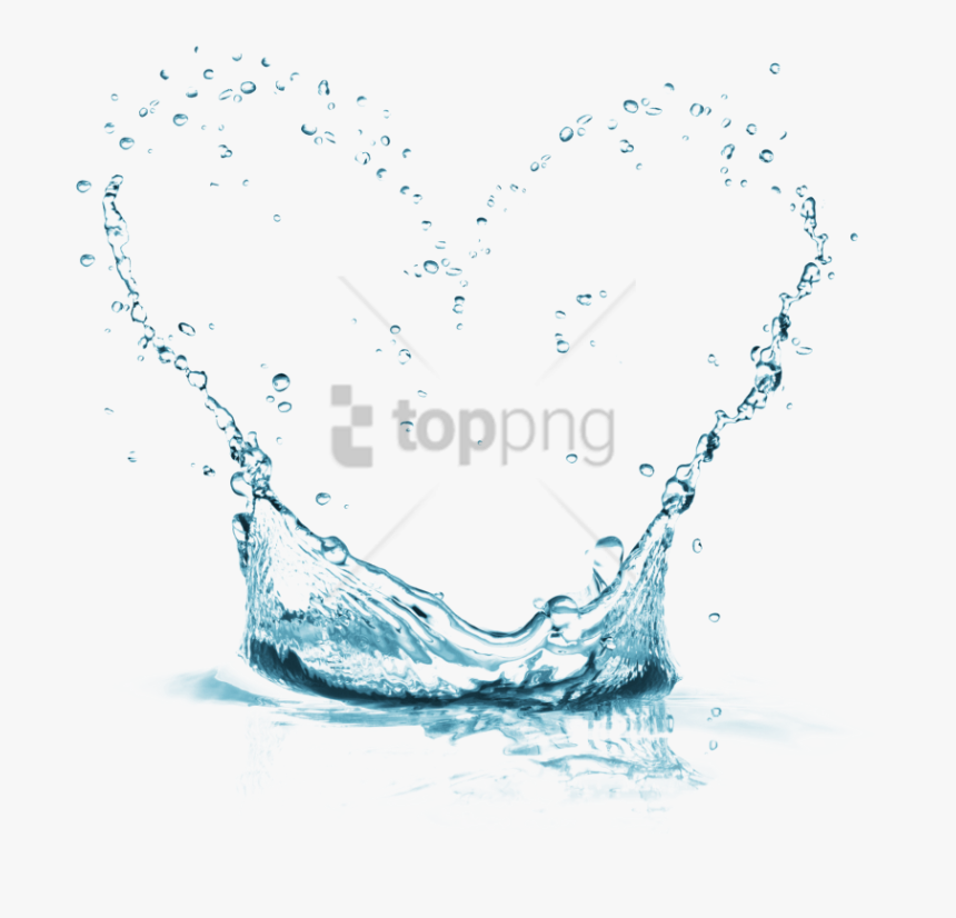 Free Png Water Effect Png Png Image With Transparent - Heart Water Splash Png, Png Download, Free Download
