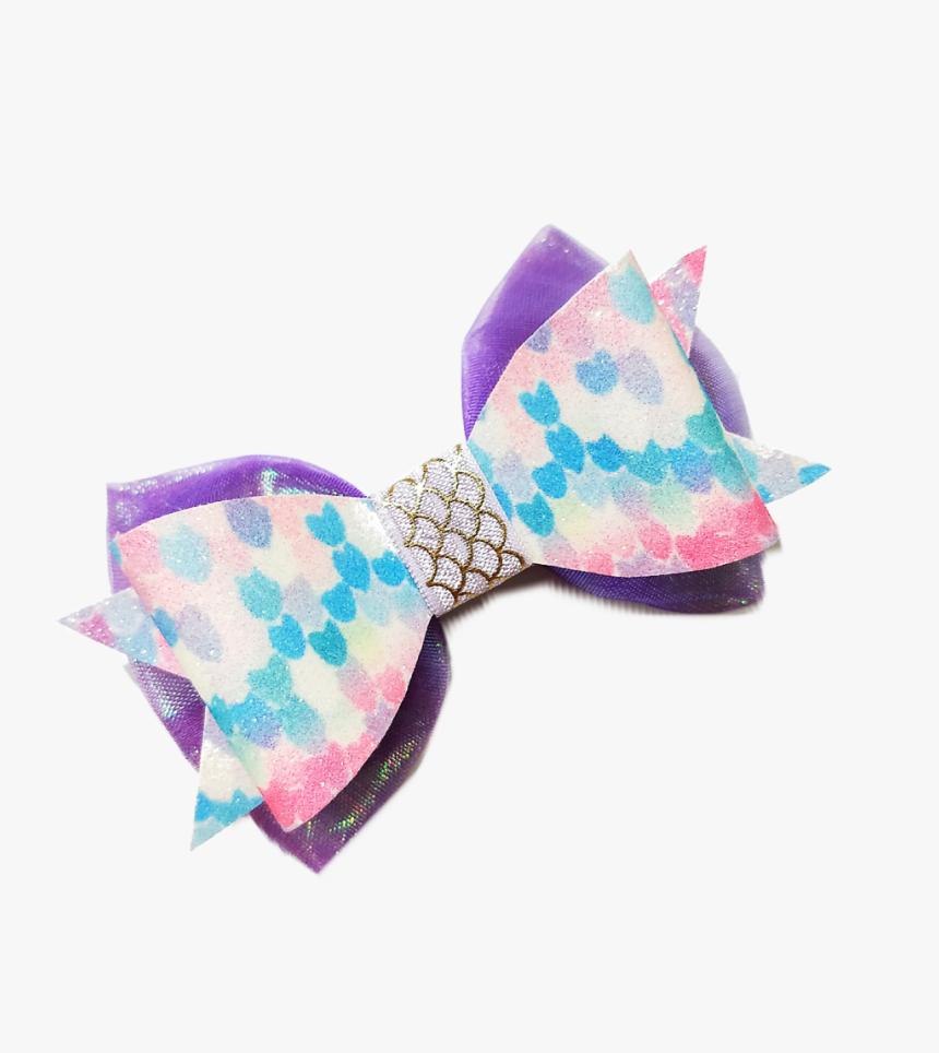Violet Glitter Scales Melissa Bowtie *premium* - Silk, HD Png Download, Free Download