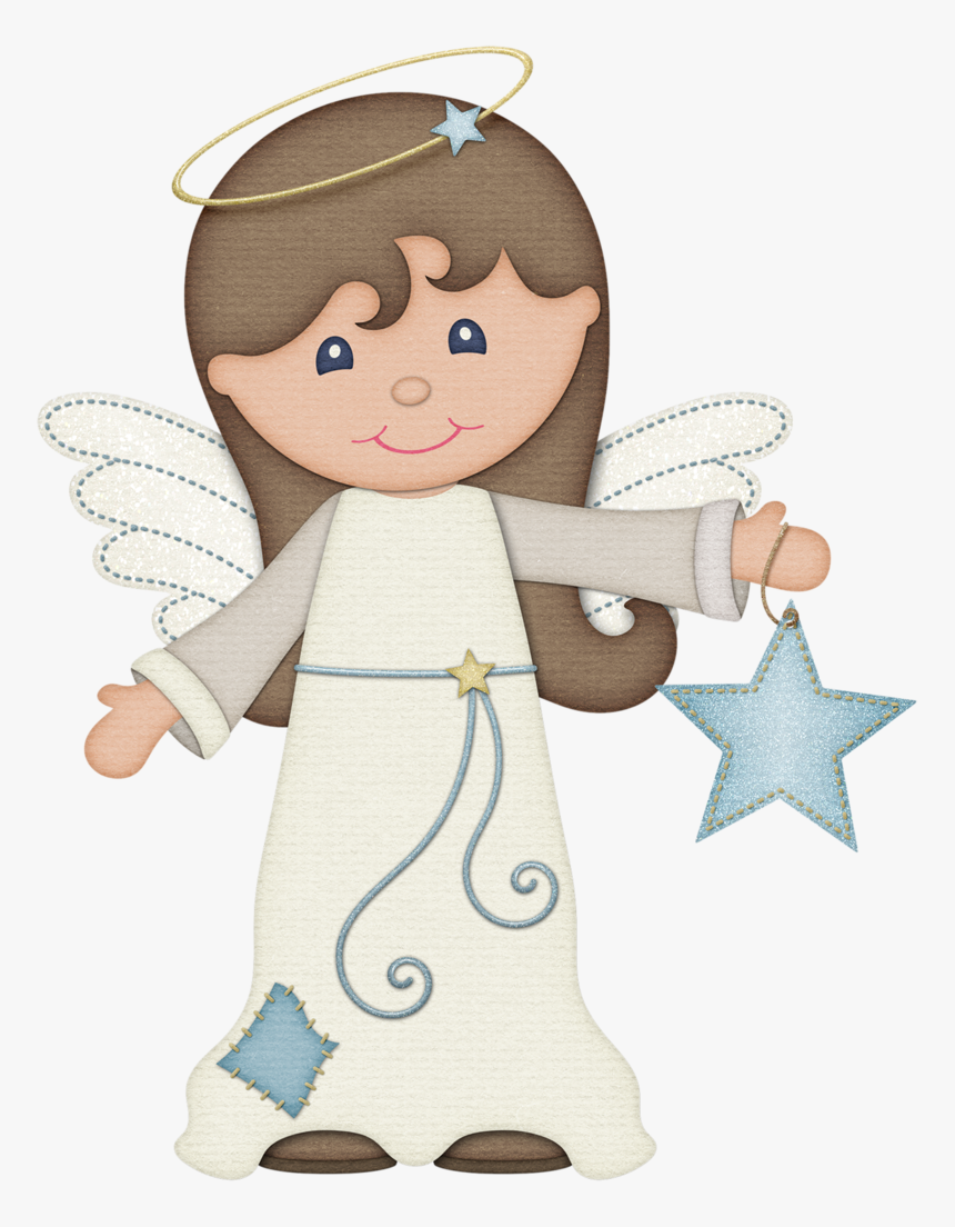 Cartoon Christmas Glitter Angels, HD Png Download, Free Download