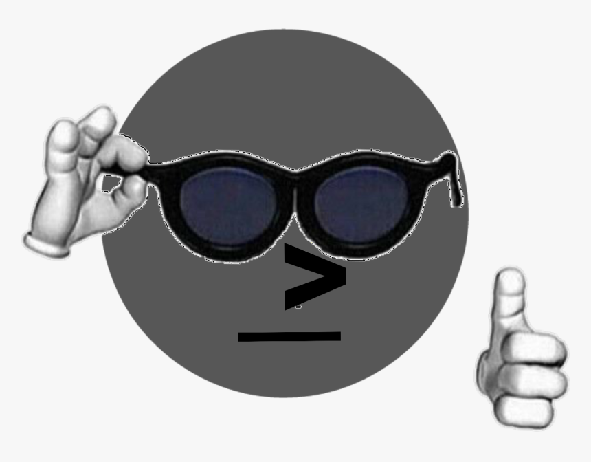 Npc Cool Guy - Thumbs Up Cursed Emoji, HD Png Download, Free Download