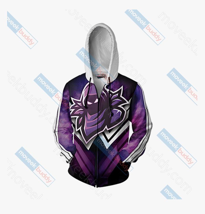 Raven Mascot Unisex Zip Up Hoodie Jacket - Hoodie, HD Png Download, Free Download
