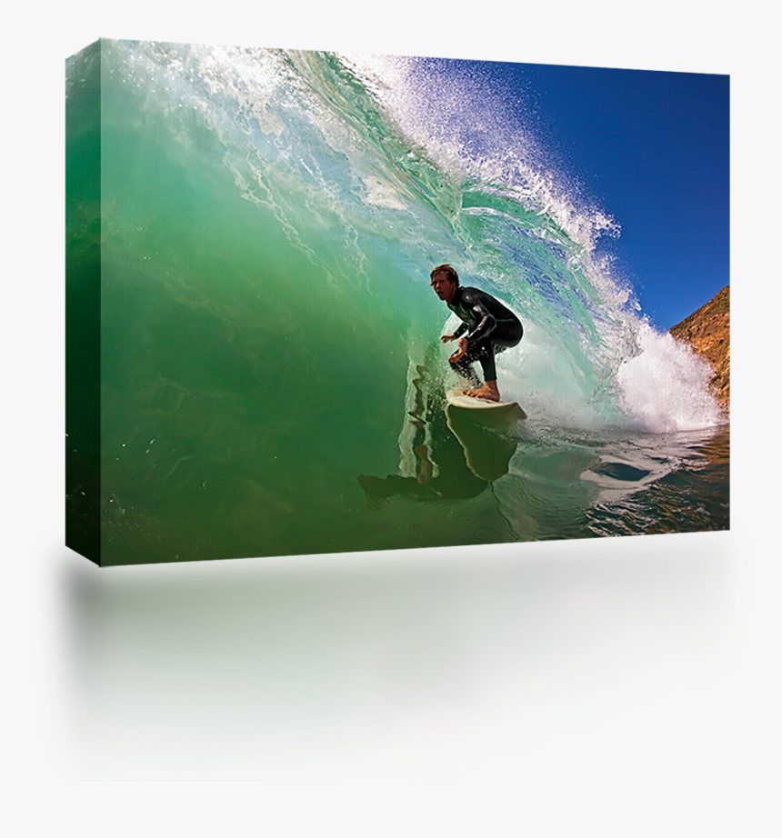 Green Wave Rider - Surfing, HD Png Download, Free Download