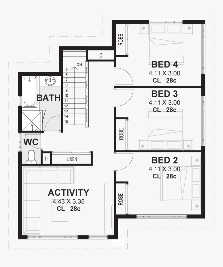 The Byron Floor Plan 2 House Plan