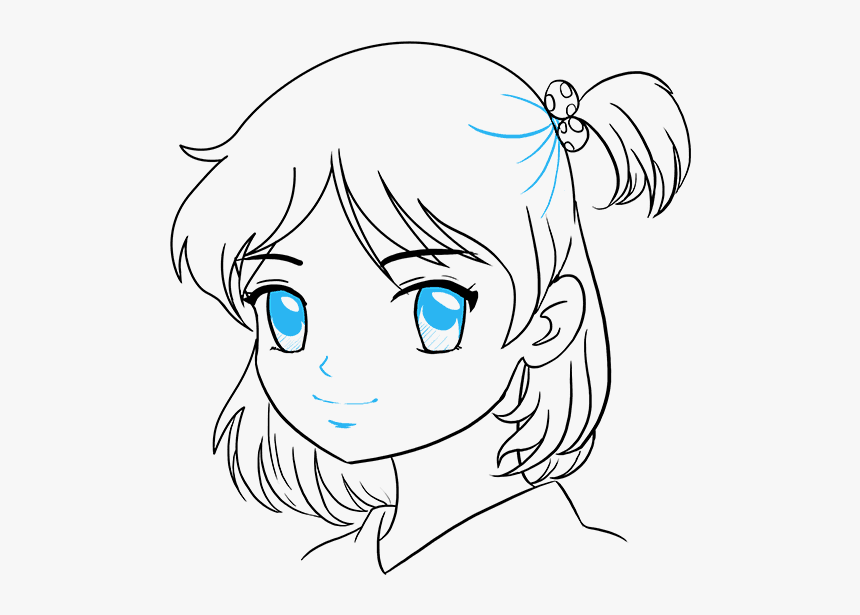 Draw Anime Girl, HD Png Download, Free Download