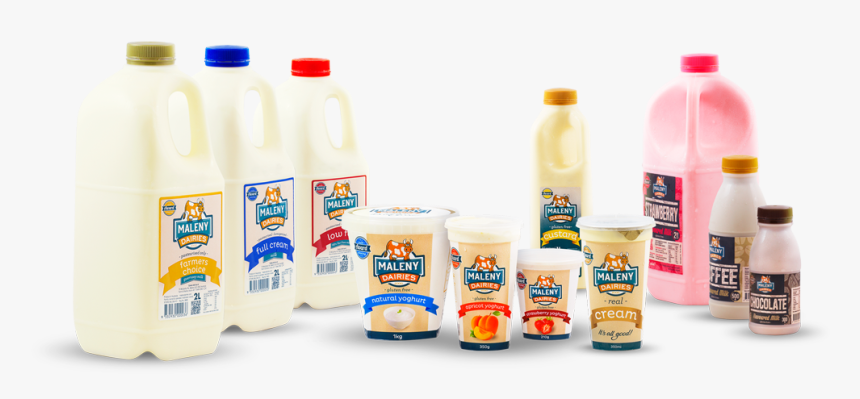 Milk Bottle Png , Png Download - Maleny Dairies, Transparent Png, Free Download