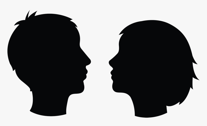 Head Profile Icon Two Heads Silhouette- - Two Heads In Profile, HD Png Download, Free Download