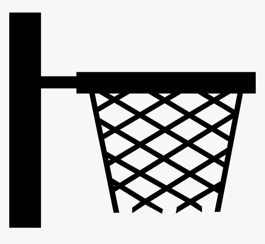 Basketball Basket Side View For Sport School Class - Basketball Hoop Cartoon Side, HD Png Download, Free Download