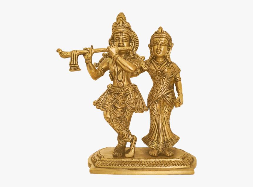 Brass Statue Lord Radha Krishna - Statue, HD Png Download, Free Download