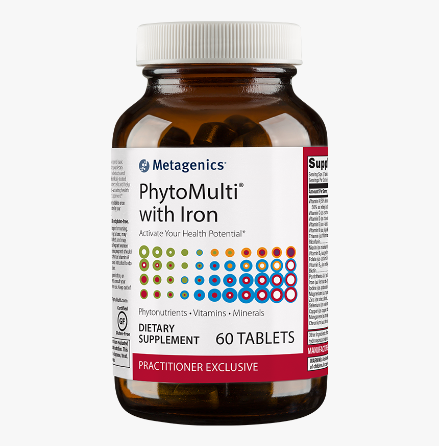 Phytomulti Capsules Health Supplement From Metagenics - Phytomulti With Iron, HD Png Download, Free Download
