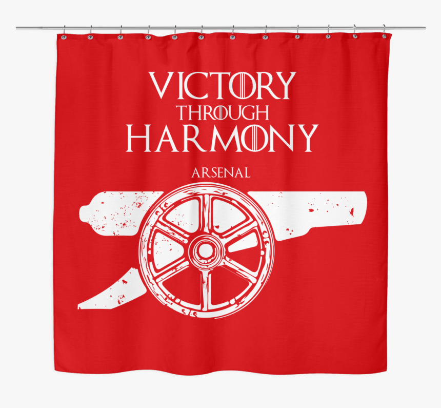 Game Of Thrones House Arsenal Fc Shower Curtain Arsenal Tshirt