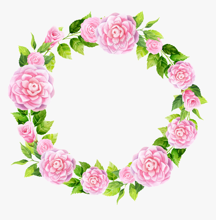 Transparent Snow Mountain Png - Floral Pink Frame Png, Png Download, Free Download