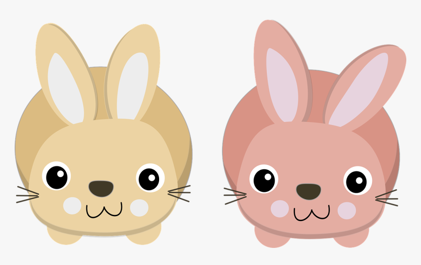 Clipart Cute Bunnies, HD Png Download, Free Download