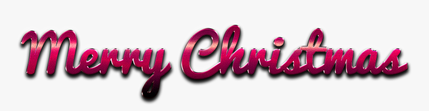 Merry Christmas Word Art Png Pic - Graphic Design, Transparent Png, Free Download