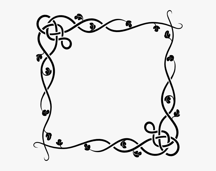 Flower Border Clip Art - Designs On A4 Size Paper, HD Png Download, Free Download