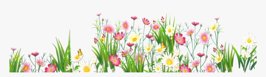 Transparent Spring Clipart - Flowers And Butterflies Png, Png ...