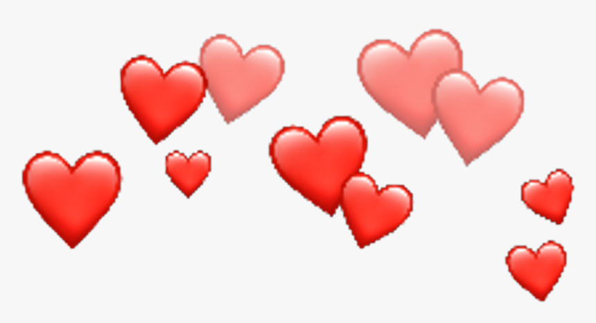 Freetoedit Corazones Corona - Transparent Background Heart Crown, HD Png Download, Free Download