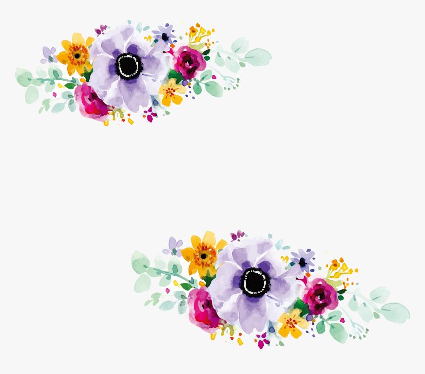 Floral Design Wedding Invitation Watercolour Flowers Flower