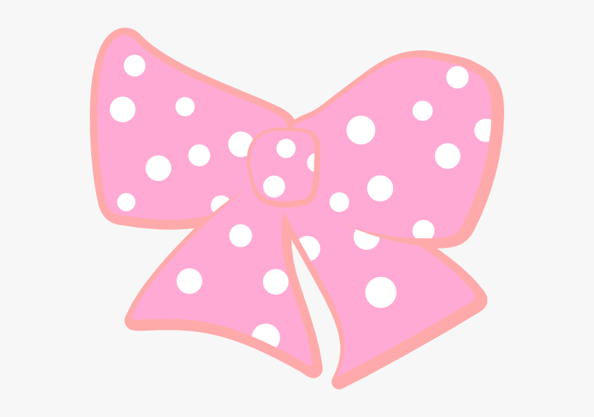 Pink And White Polka Dot Bow, HD Png Download, Free Download