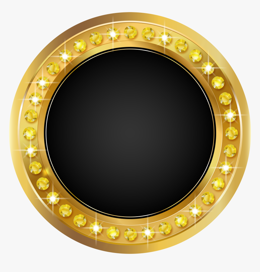 Black And Gold Circle, HD Png Download, Free Download