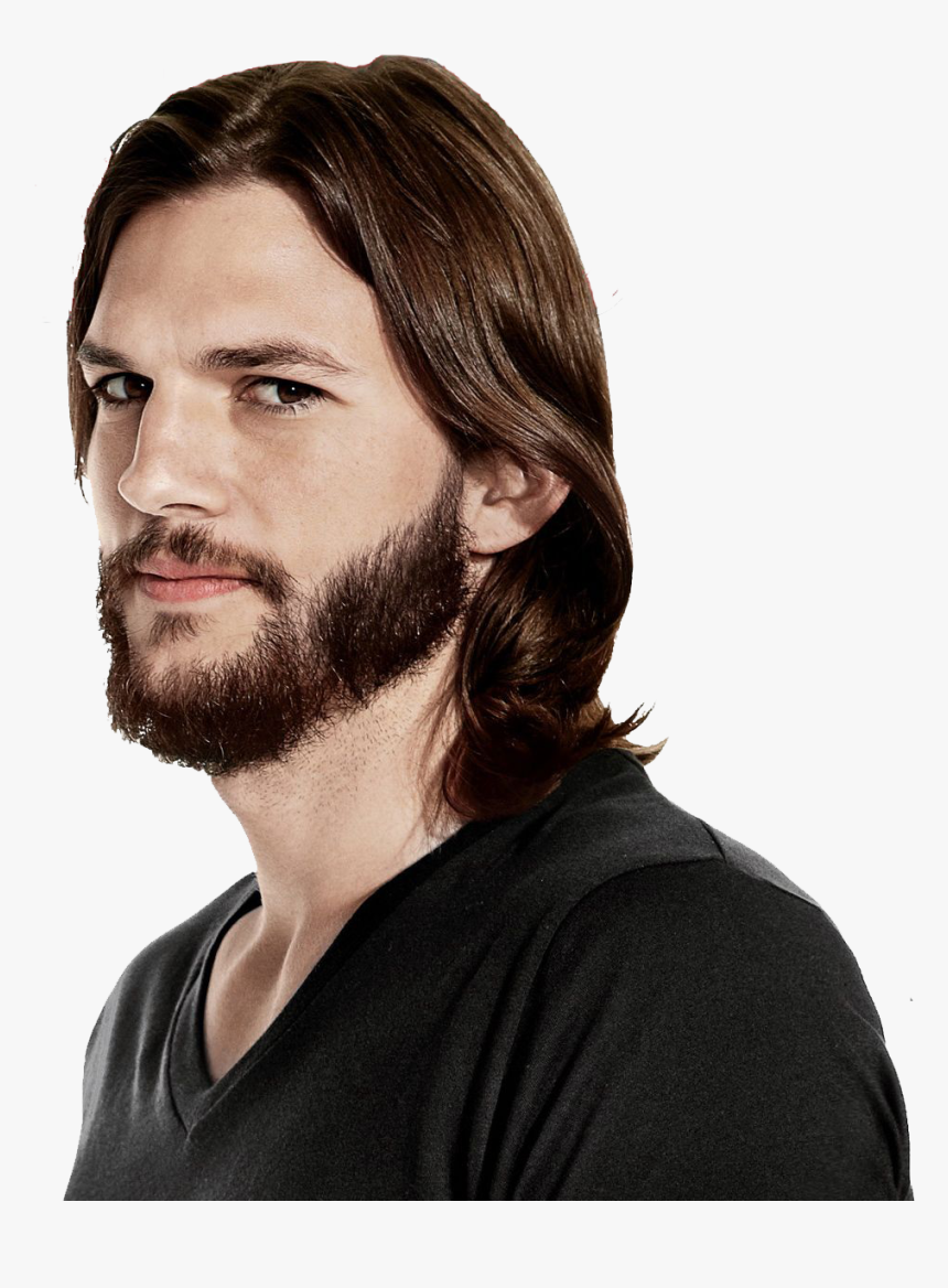 Latest Beard Styles For Long Face - Ashton Kutcher Men's Health, HD Png Download, Free Download