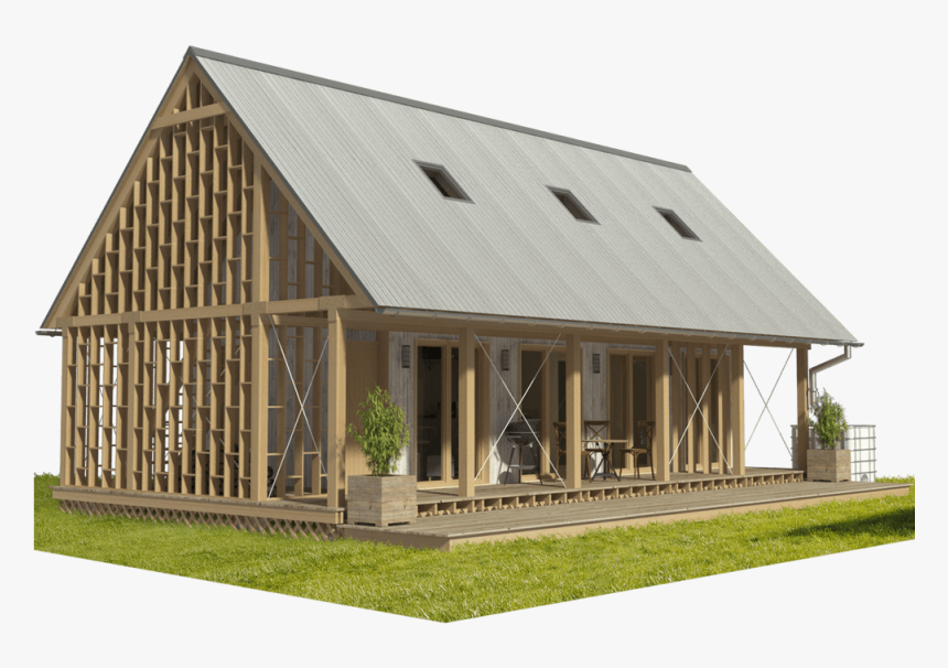 Wood Frame House, HD Png Download, Free Download