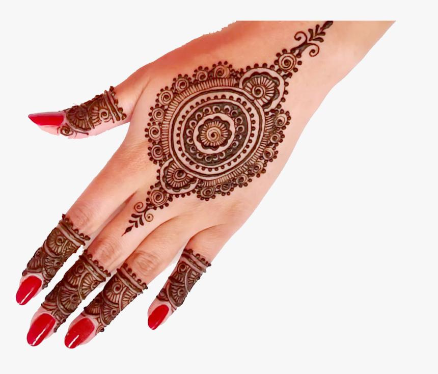 Mehndi Png Download Simple Mehendi Design For Back Hand Transparent Png Kindpng