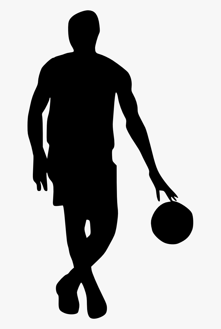 Basketball Player Silhouette Png, Transparent Png, Free Download