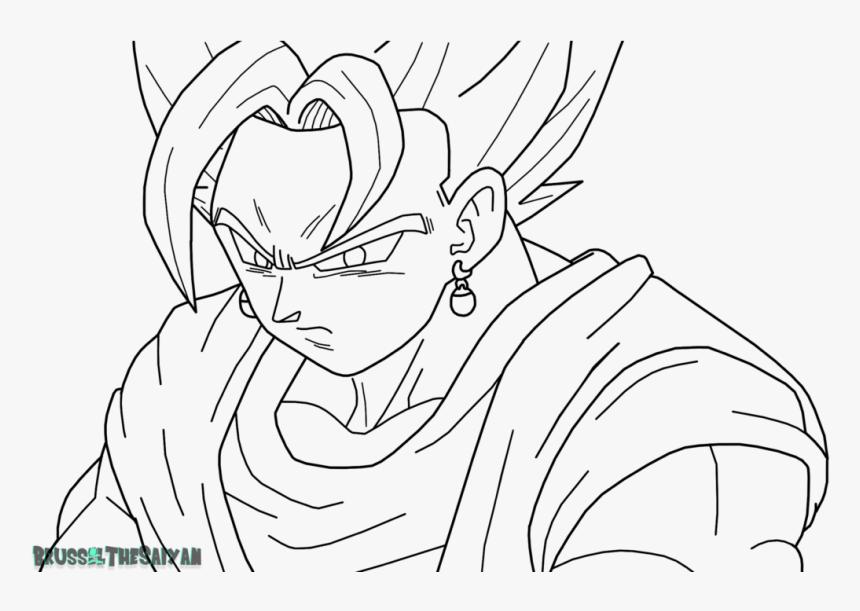 Goku Super Saiyan Para Colorear Super Saiyan Blue Vegito ...