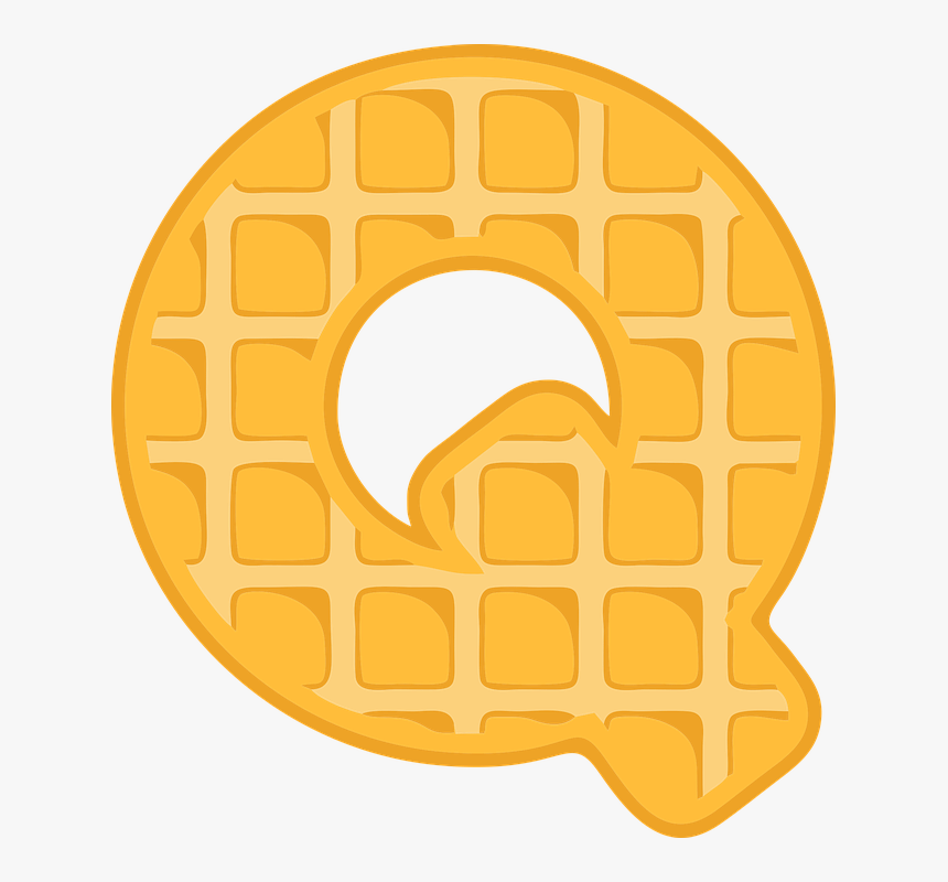 Q Alphabet Waffle, HD Png Download, Free Download